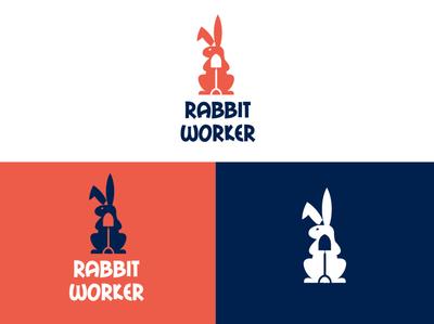 Rabbit Worker logodesign logomark graphicdesign brand logodesignersclub illustration logodesigns branding graphic  design design logo