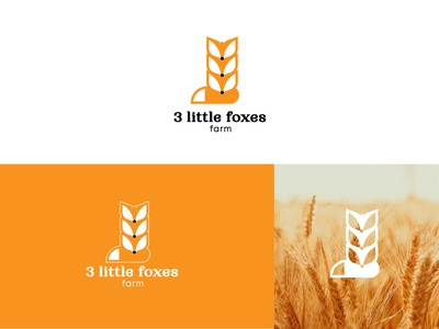 3 little foxes farm logodesigner logodesign logomark brand logodesignersclub logodesigns branding graphic  design design logo
