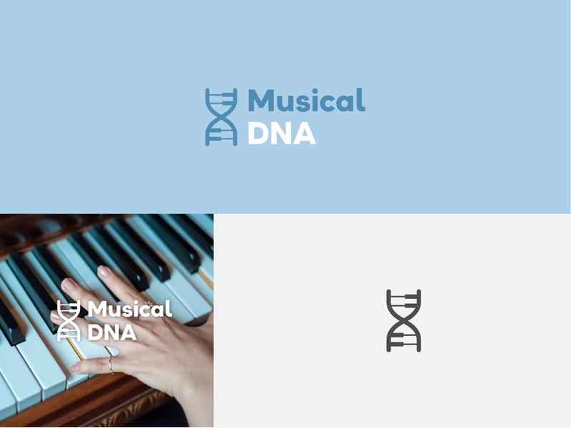 Musical DNA icon brand logodesign graphic  design brand design branding design brand identity logodesigns logomark branding design logo