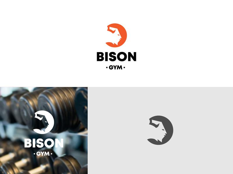 Bison Gym gym logo gym logomark brand graphic  design branding design logo