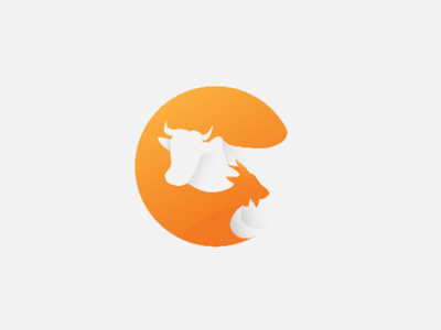 Cow n goat brand logodesignerclub illustration graphicdesign design logodesigns logo