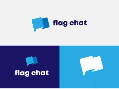 Flag Chat logomark brand graphicdesign logodesignersclub logodesigns branding illustration graphic  design design logo