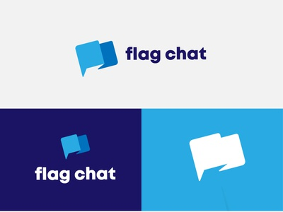 Flag Chat logomark brand graphicdesign logodesignersclub logodesigns branding illustration graphic  design design logo