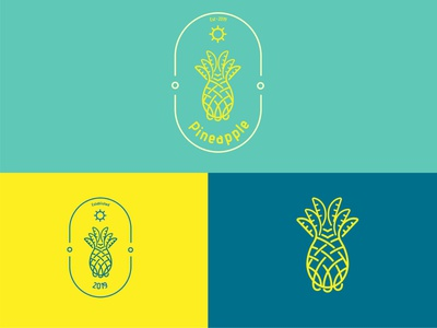 Pineapple Logo Design logomark logodesign brand graphicdesign logodesignersclub branding illustration graphic  design design logo