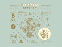 Besom Kitchen Branding