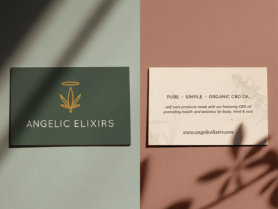 Business Cards for Angelic Elixirs