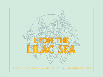 Flyer for Upon the Lilac Sea