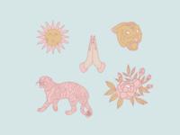 Tigers & Flowers