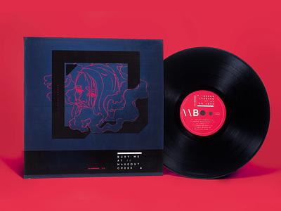 Mitski Album, Redesign | Front + Vinyl Label music packaging illustration design branding