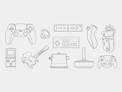 Hands On | Controller Illustrations videogames games vector illustration design