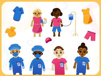 Shands 4 U | Character + Clothing Assets flat kids art kids game childrens art illustrator vector illustration design