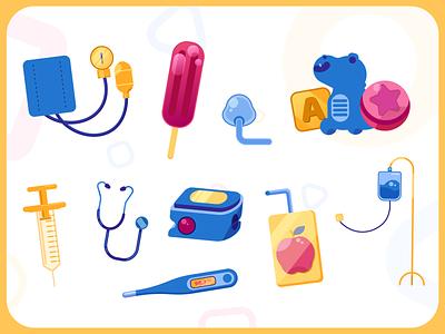 Shands 4 U | Item Assets medical toy kids art illustrator flat vector illustration