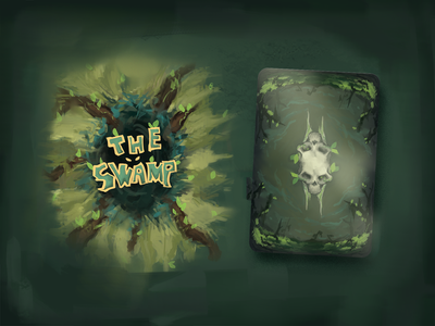 The Swamp | Box Art + Card Back photoshop packaging game card game illustration