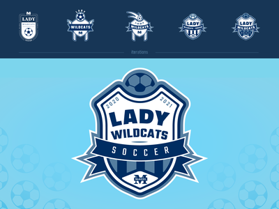 Lady Wildcats Soccer sports logo sports branding flat vector logo
