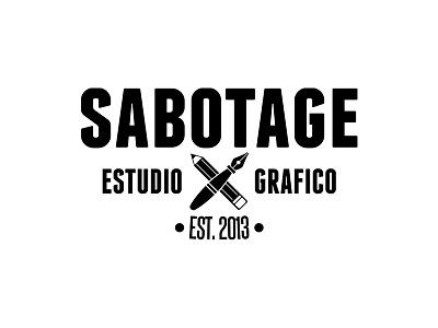 SABOTAGE logo estudio graphic black
