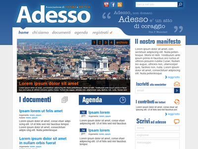 Adesso web flat design ui website politics