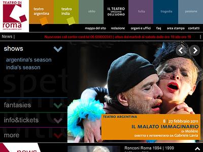 Teatro di Roma flat dark web rome website design ui theatre