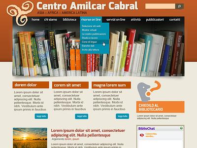 Centro Amilcar Cabral flat web website design ui library