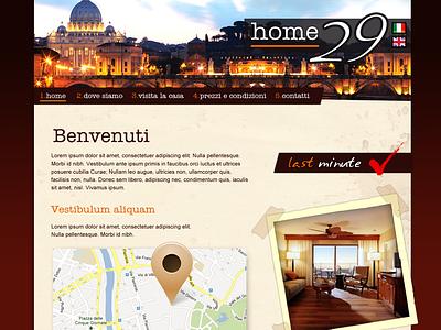 Home 29 rome web website design ui hotel