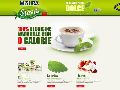 Misura Stevia stevia awwwards web website green design ui misura