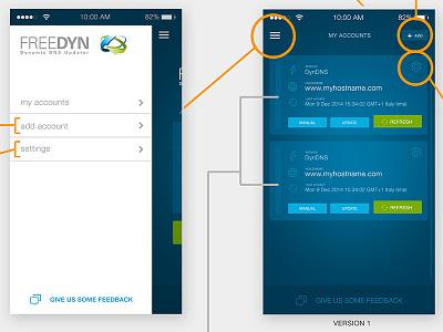 Freedyn User Flow iphone green blue ui design user flow flat desugn ui