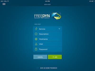 Freedyn Ipad Add Host blue ui flat clean ipad app app design flat design uidesign