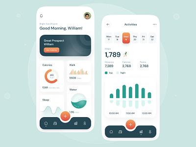 Health Anlyze App health analyze ui design gradient smooth modern flat health app health illustration icon app design app mobile ui ui ux design