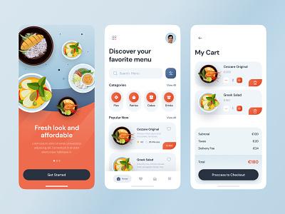 Food App menu ilustration delivery food delivery restaurant food app food icon app app design mobile ui ux ui design