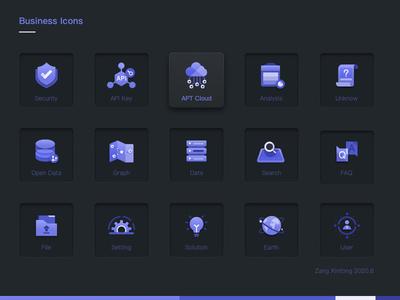 Set Of Bussiness Icons0607 zangxintong branding icons icon data consumer bigdata web website ui design