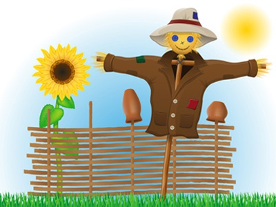 scarecrow straw in a coat