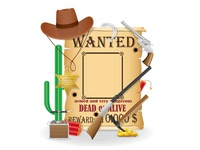 cowboy wild west concept