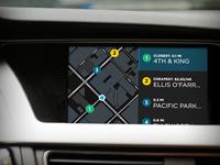 In-car Dashboard Parking UI