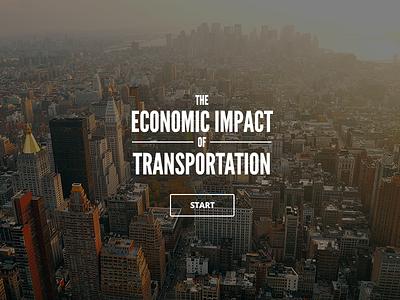 Economic Impact Infographic Intro infographic splash city
