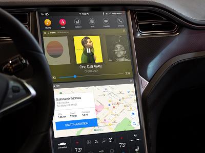 Tesla Dashboard Redesign ui concept redesign dashboard tesla