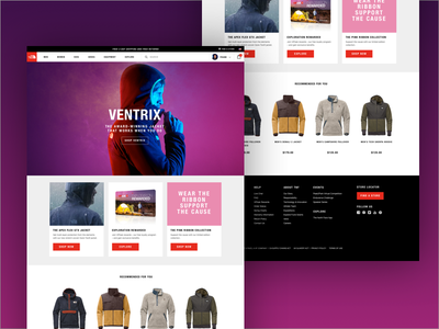 The North Face Homepage Concept web website hero homepage north face