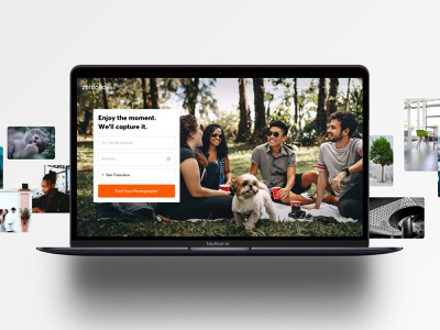 Photographers On-Demand search photography homepage