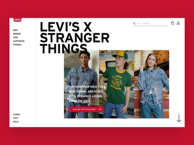Levis Homepage Concept