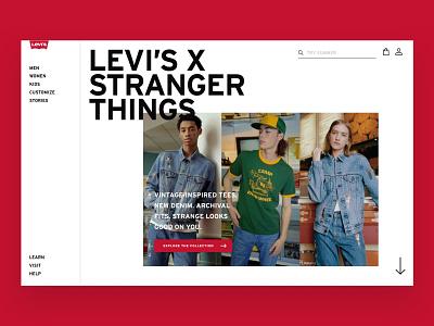 Levis Homepage Concept ecommerce levis concept homepage