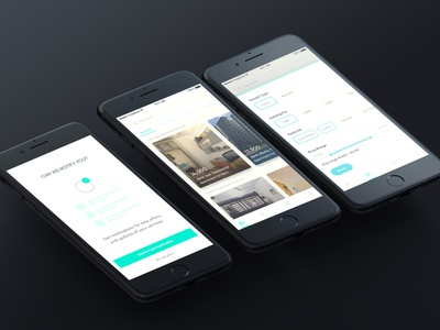 Rental house app identity clean mobile ios type vector ux ui minimal iphone apps ios design ios app design hello design branding app