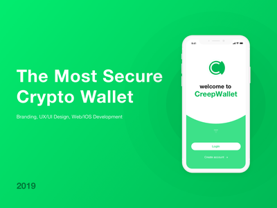CreepWallet - UX/UI Design identity web iphone apps ios design ios app design ux ui design branding app
