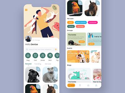 Mobile App - Pets care ios design app concept uiuxdesign care pets colorful mobile app design uiux pet care mobile app