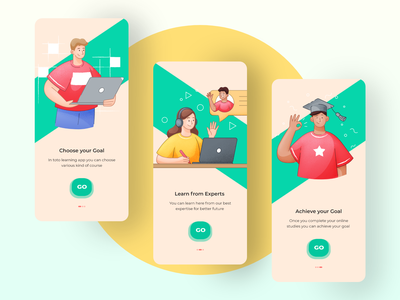Toto - Language learning mobile app concept language app learning platform product design app app concept education illustration colorful mobile app ios uiux