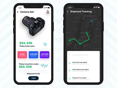 Enterprise Mobility App Design. map ui enterprise mobility stock mobile app inventory management tracking app ui  ux
