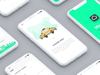 MyCab On-demand Taxi Booking App - Animation