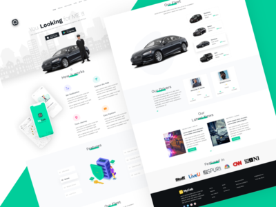 MyCab On-demand Taxi Booking App - Landing Page