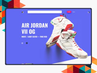 Air Jordan Landing page ecommerce design ecommerce blue ui  ux shoe air jordan webdesign