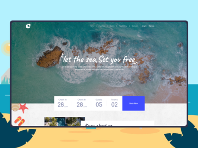 Wild Sand - Hotel web project hotel branding hotel beach web layout booking vacation webdesign project travel tour