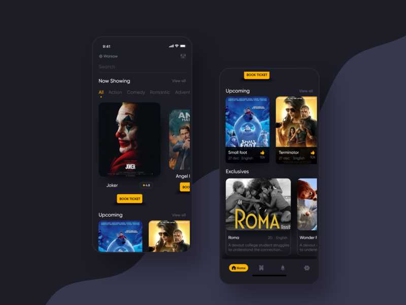 Movie App booking movie booking movie dark app design ui  ux app concept mobile app uiux ios