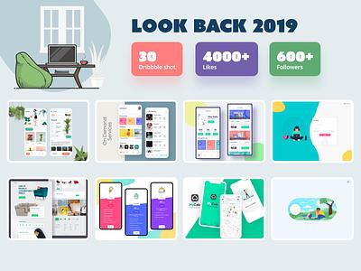 Lookback - 2019 app illustration design colorful webdesign app concept mobile app uiux