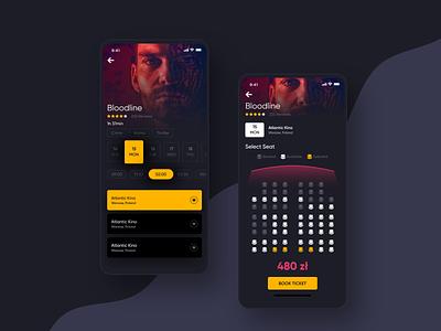 Movie App booking app movie app booking colorful app design ui  ux app concept mobile app uiux ios